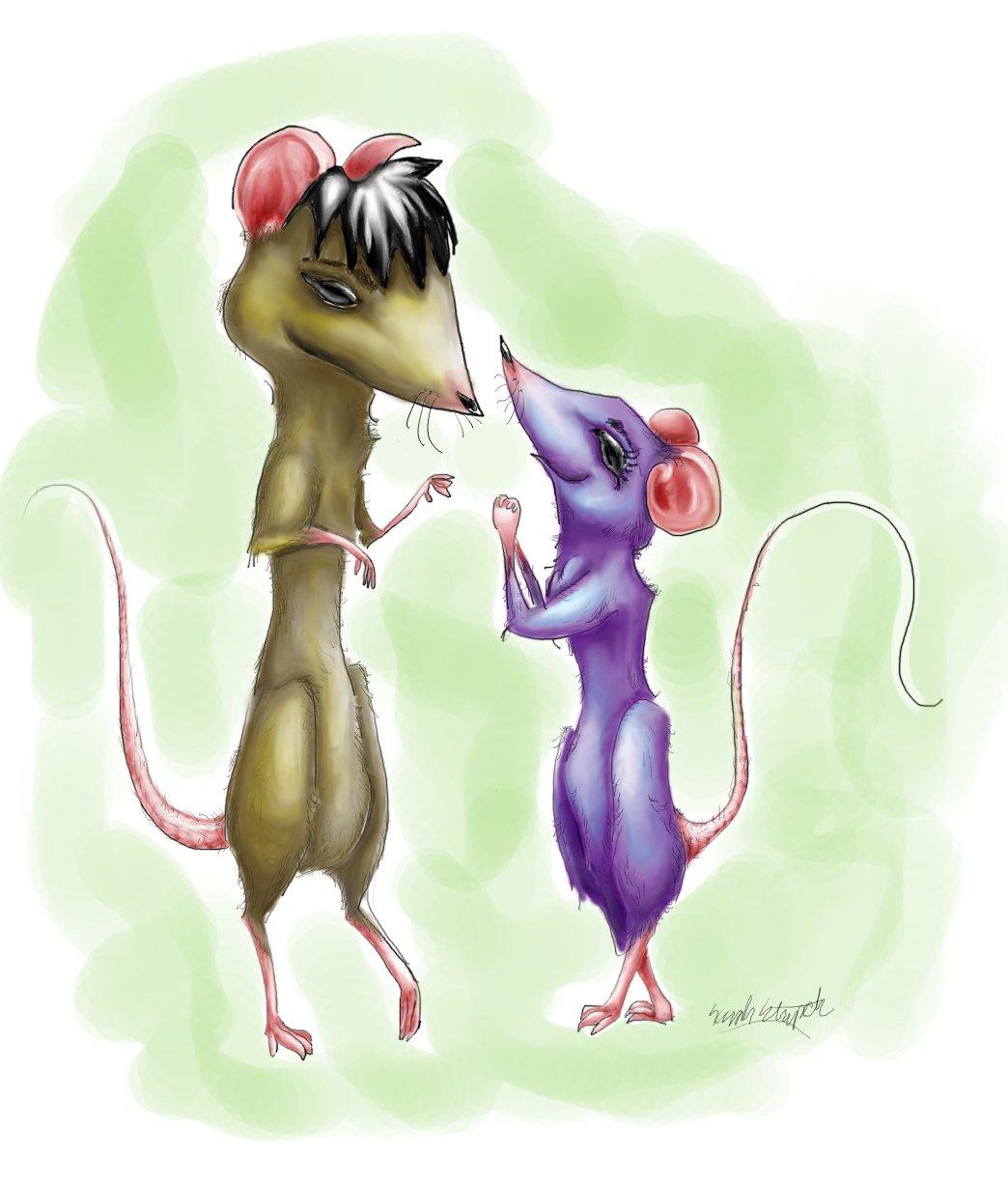 rat love digital illustration