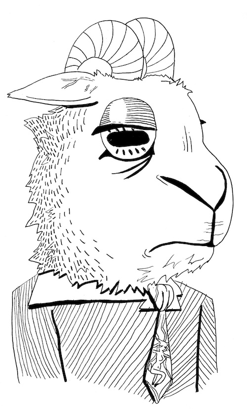 goat printable coloring pages of animals