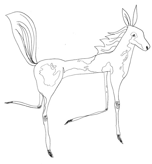 pony pop surrealism art coloring page