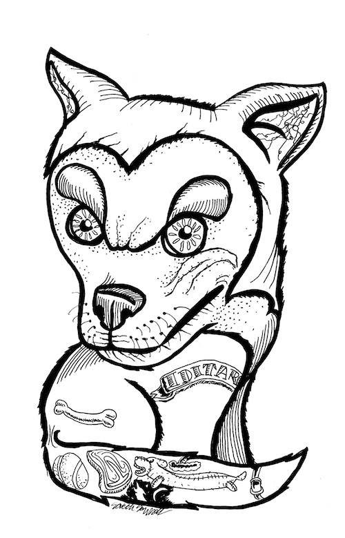 husky dog coloring page pop surrealism