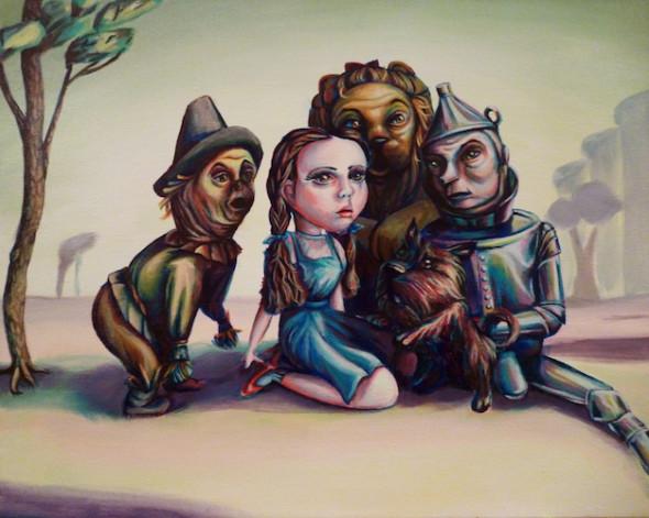 pop surrealist art wizard of oz acrylic painting