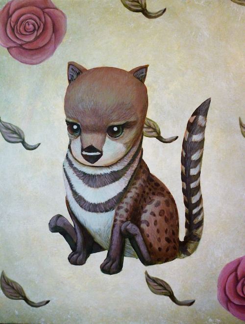malabar civet pop surrealism animal art acrying painting