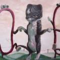 charli cat dance pop surrealism art painting happy kitty